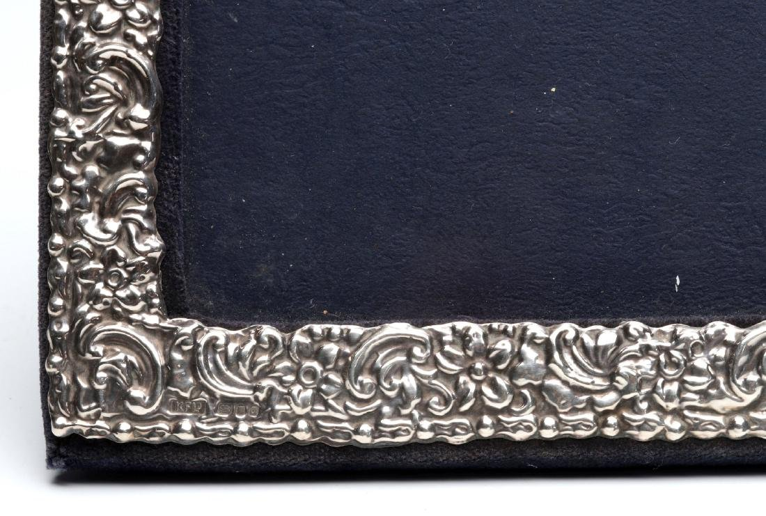 AN EARLY 20TH C.STERLING SILVER REPOUSSE FRAME - 6