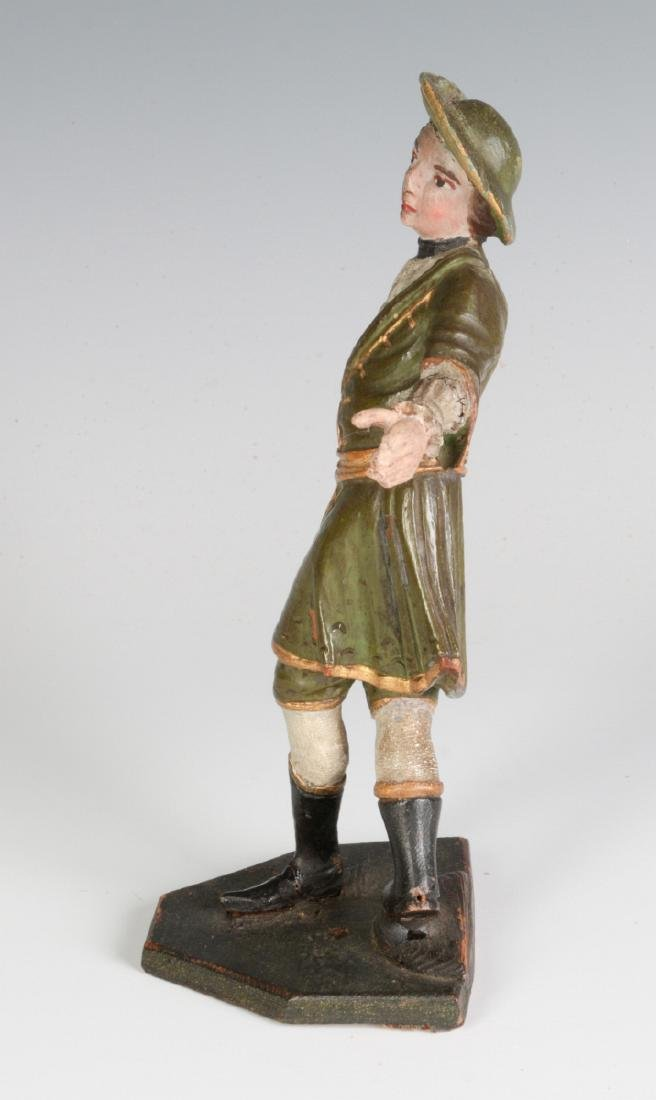 A 19TH C. CONTINENTAL CARVED AND PAINTED FIGURE - 5