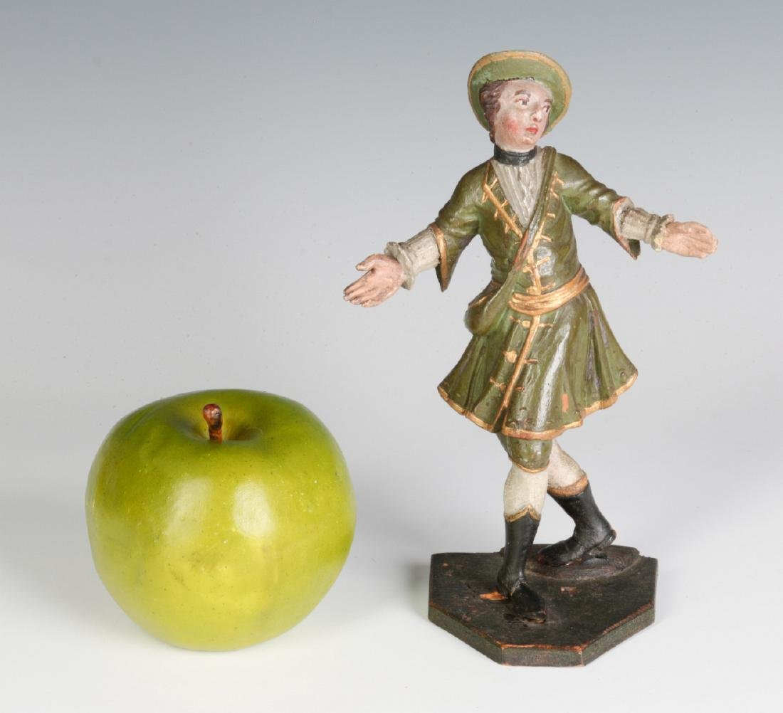 A 19TH C. CONTINENTAL CARVED AND PAINTED FIGURE - 6