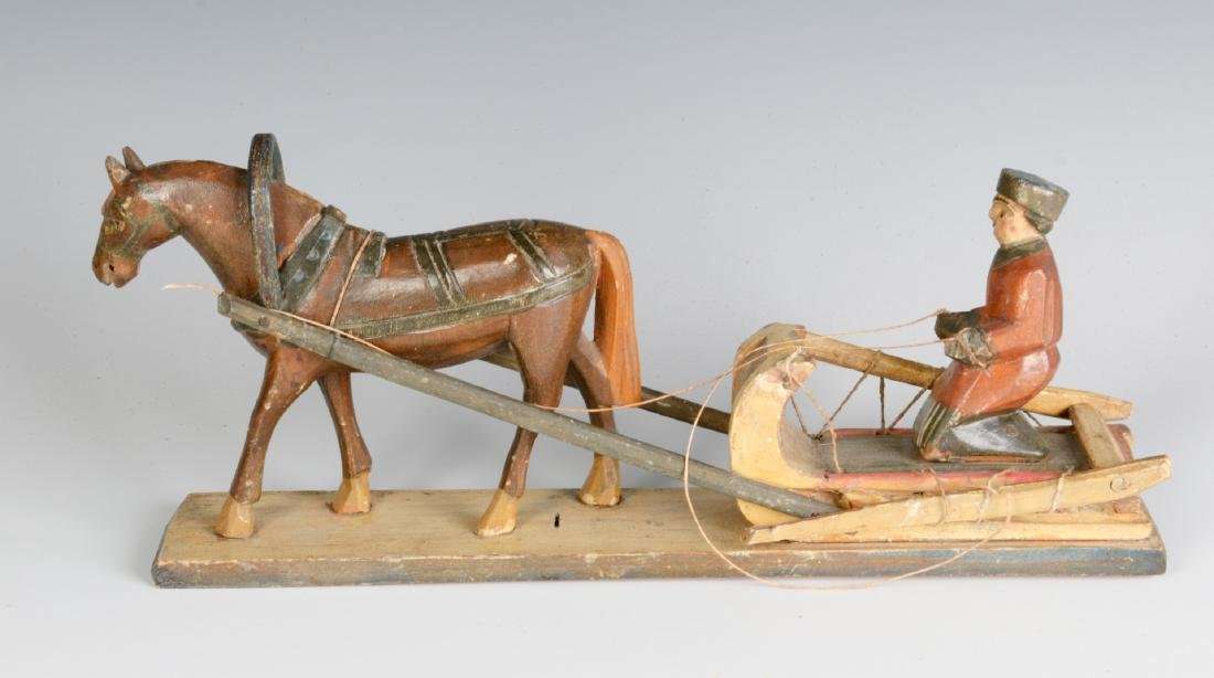 AN EARLY 20TH CENTURY EUROPEAN WOOD CARVING - 3