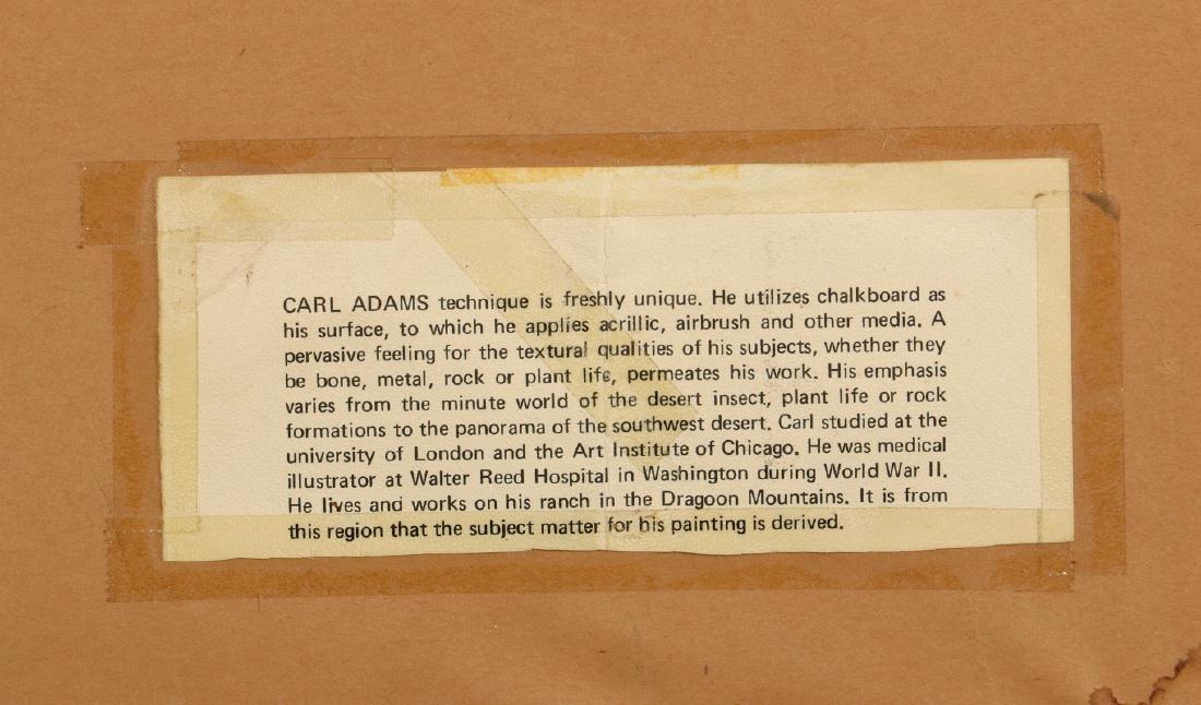CARL ADAMS (20TH C.) ACRYLIC ON BOARD - 9
