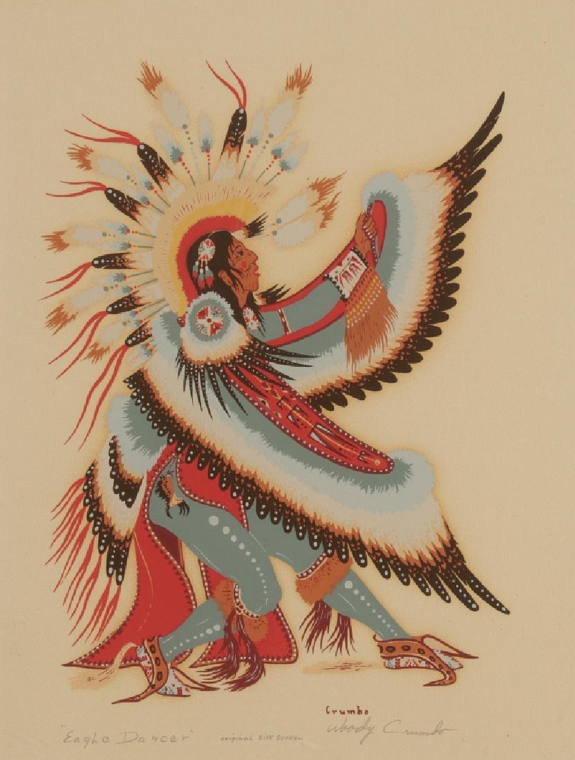WOODY CRUMBO (1912-1989) PENCIL SIGNED SILK SCREEN