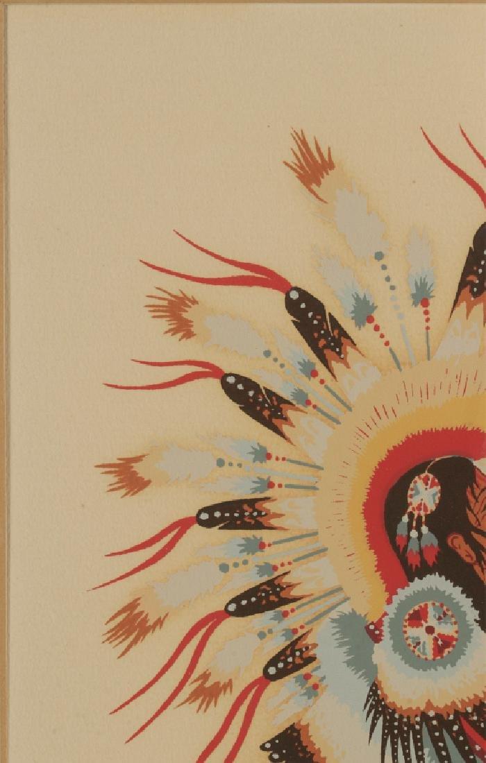 WOODY CRUMBO (1912-1989) PENCIL SIGNED SILK SCREEN - 3