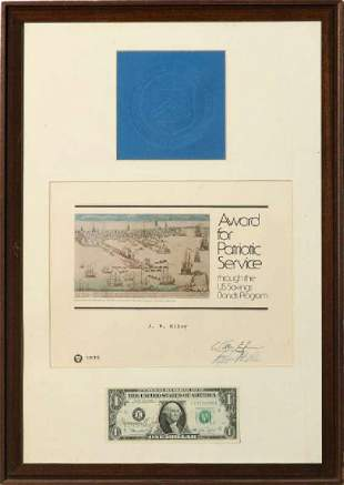 FRANCINE IRVING NEFF 19252010 SIGNED 1 BILL