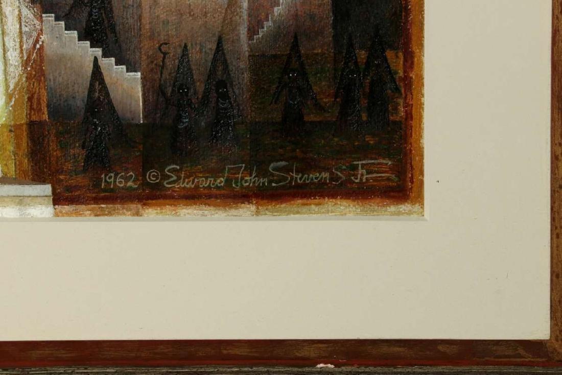 EDWARD JOHN STEVENS JR. (1923-1988) GOUACHE - 7