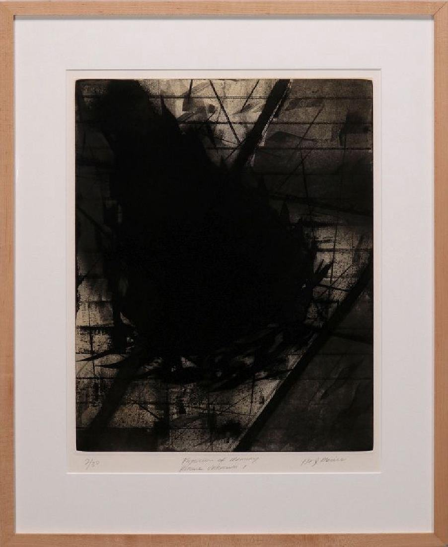 HUGH MERRILL (1949-) PENCIL SIGNED ETCHING