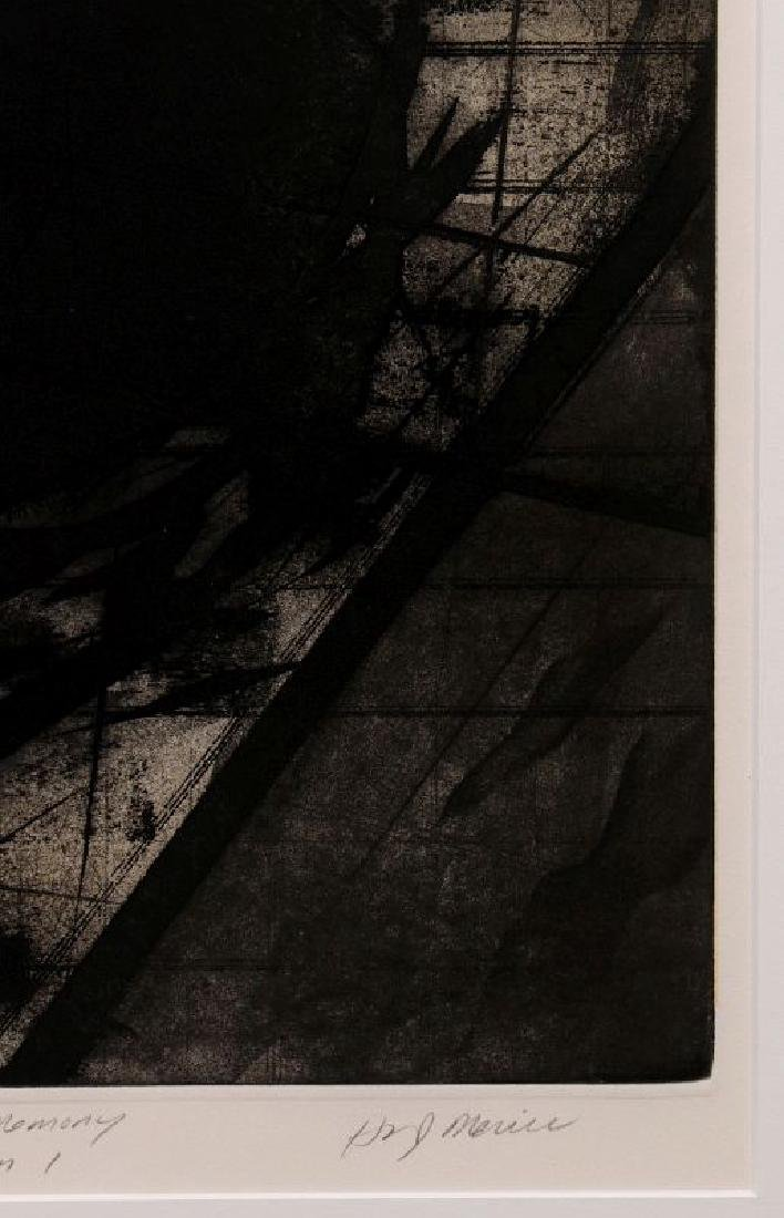 HUGH MERRILL (1949-) PENCIL SIGNED ETCHING - 4
