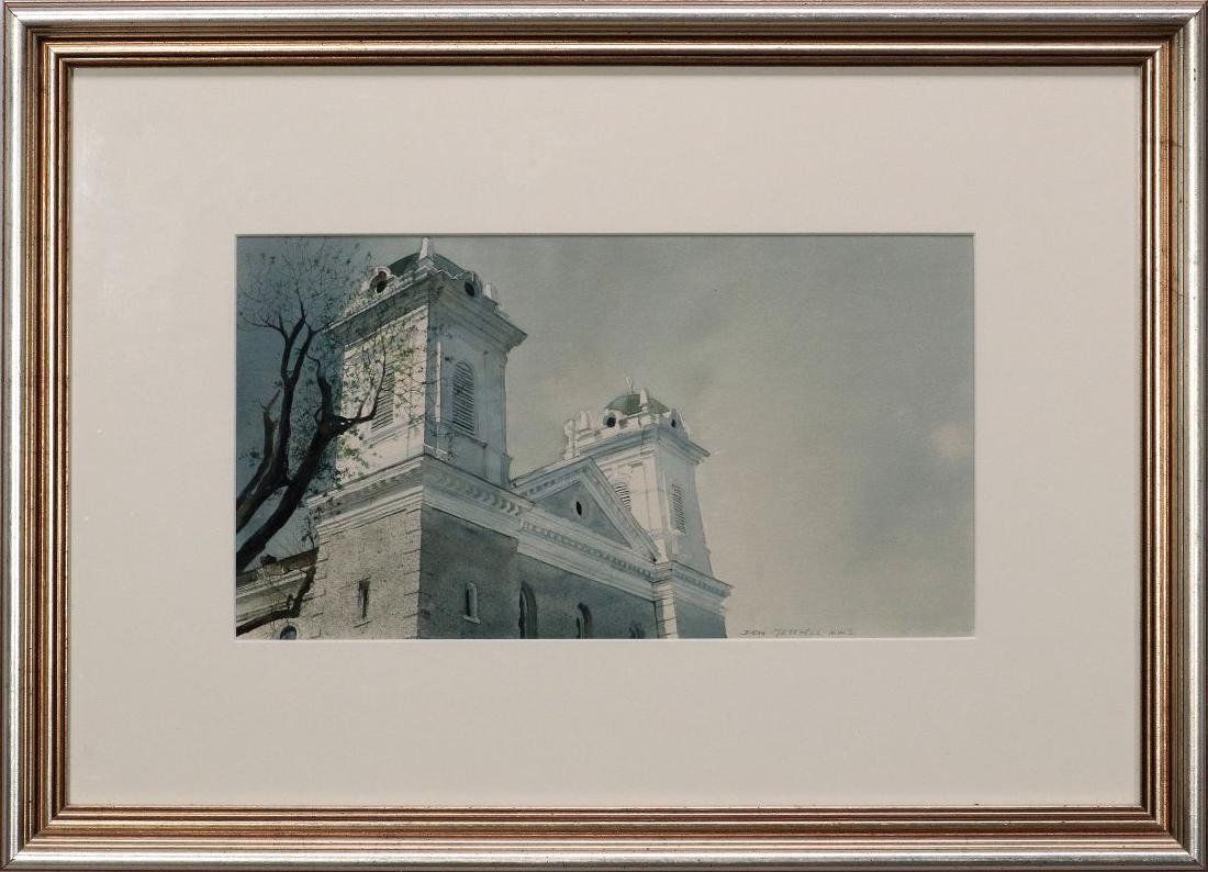 DEAN MITCHELL (1957-) KANSAS CITY WATERCOLOR