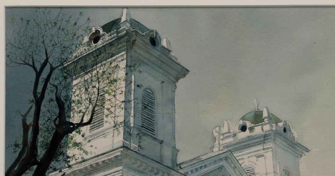 DEAN MITCHELL (1957-) KANSAS CITY WATERCOLOR - 3