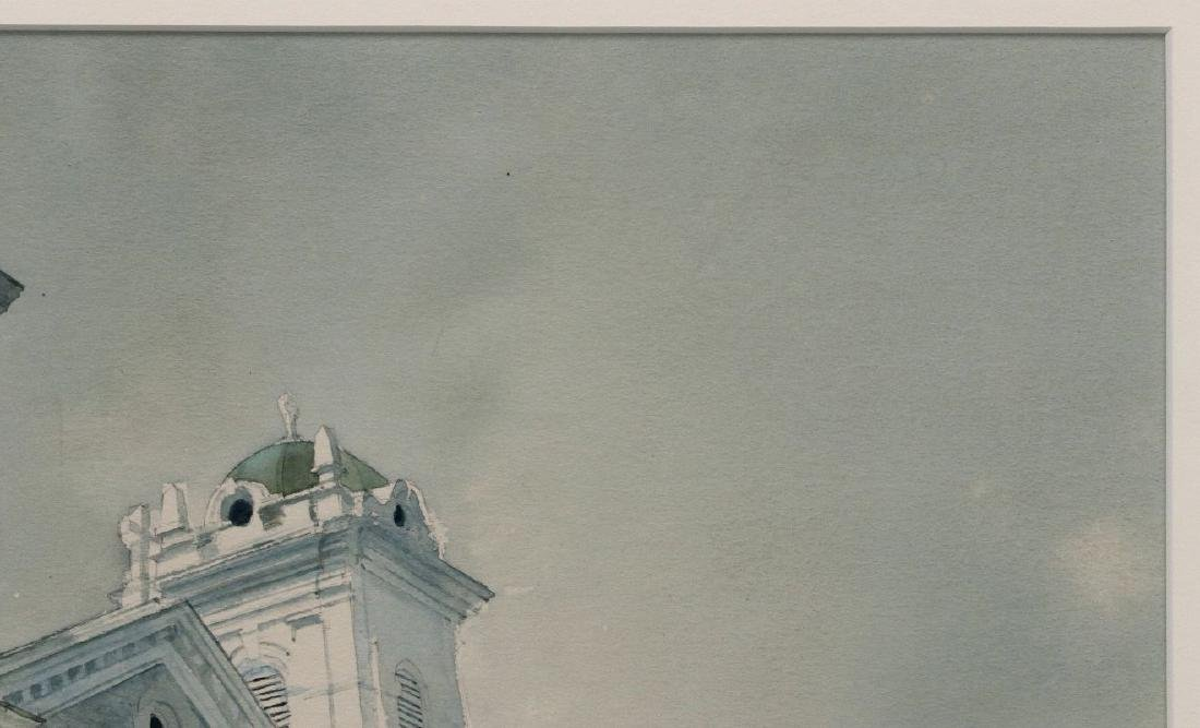 DEAN MITCHELL (1957-) KANSAS CITY WATERCOLOR - 4