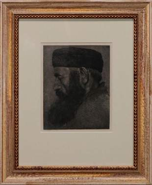 LEO KAYSER GERMAN 18681933 AQUATINT ETCHING