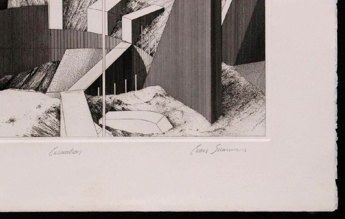 EVAN SUMMER (20th/21st C) PENCIL SIGNED ETCHING - 5