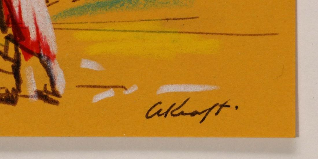 ARTHUR KRAFT (1922-1977) MIXED MEDIA ON PAPER - 7