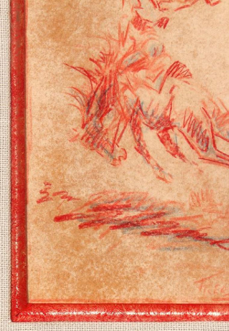 FRED HARMON (1902-1982) COLORED PENCIL SKETCH - 6