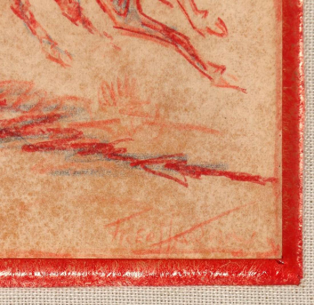 FRED HARMON (1902-1982) COLORED PENCIL SKETCH - 7