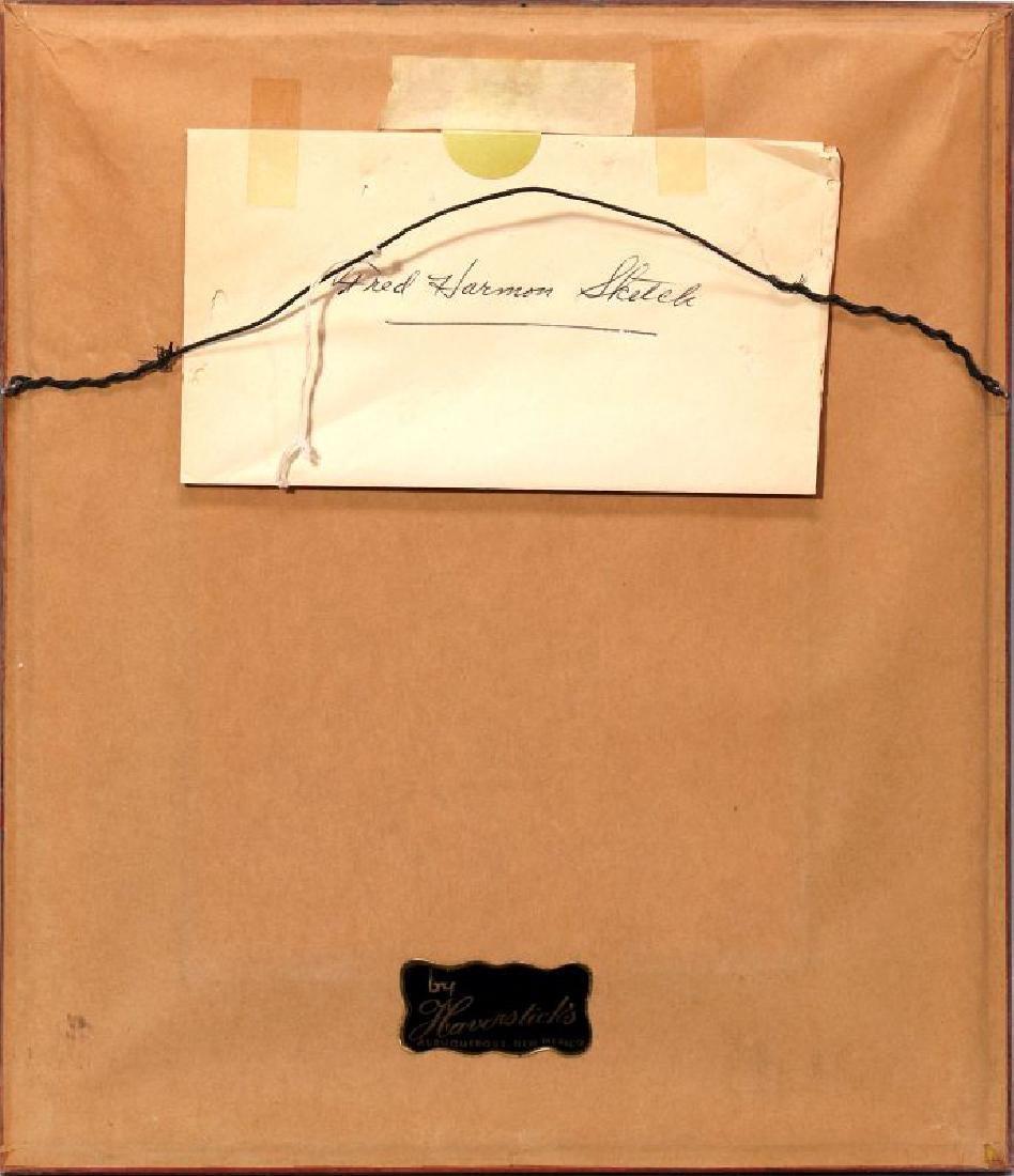 FRED HARMON (1902-1982) COLORED PENCIL SKETCH - 8