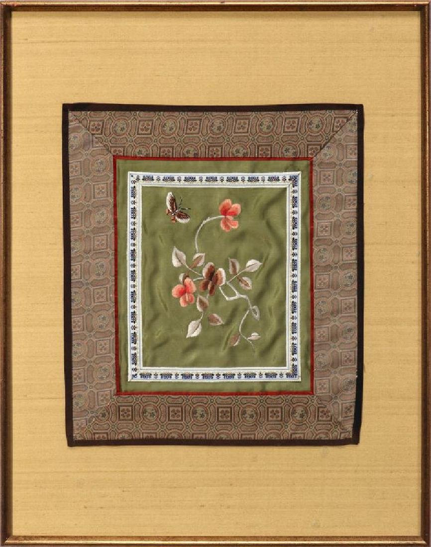 FOUR SILK EMBROIDERY PANELS - 10