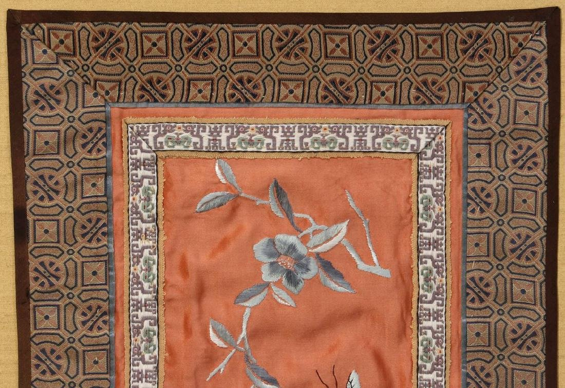FOUR SILK EMBROIDERY PANELS - 3