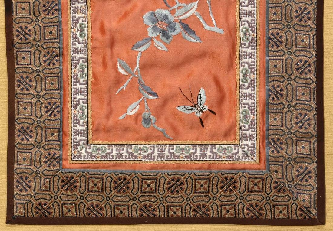 FOUR SILK EMBROIDERY PANELS - 4