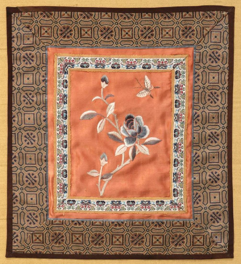 FOUR SILK EMBROIDERY PANELS - 6
