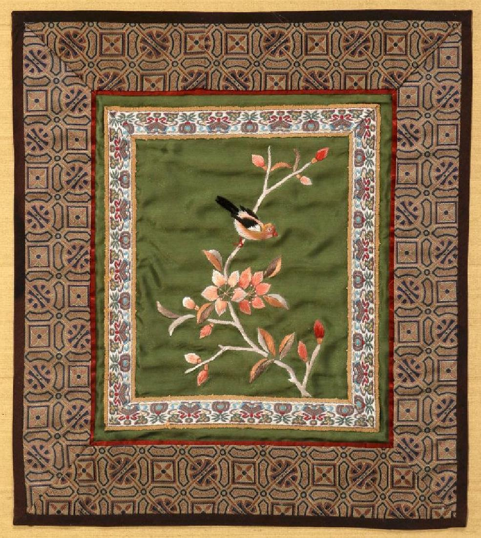 FOUR SILK EMBROIDERY PANELS - 7