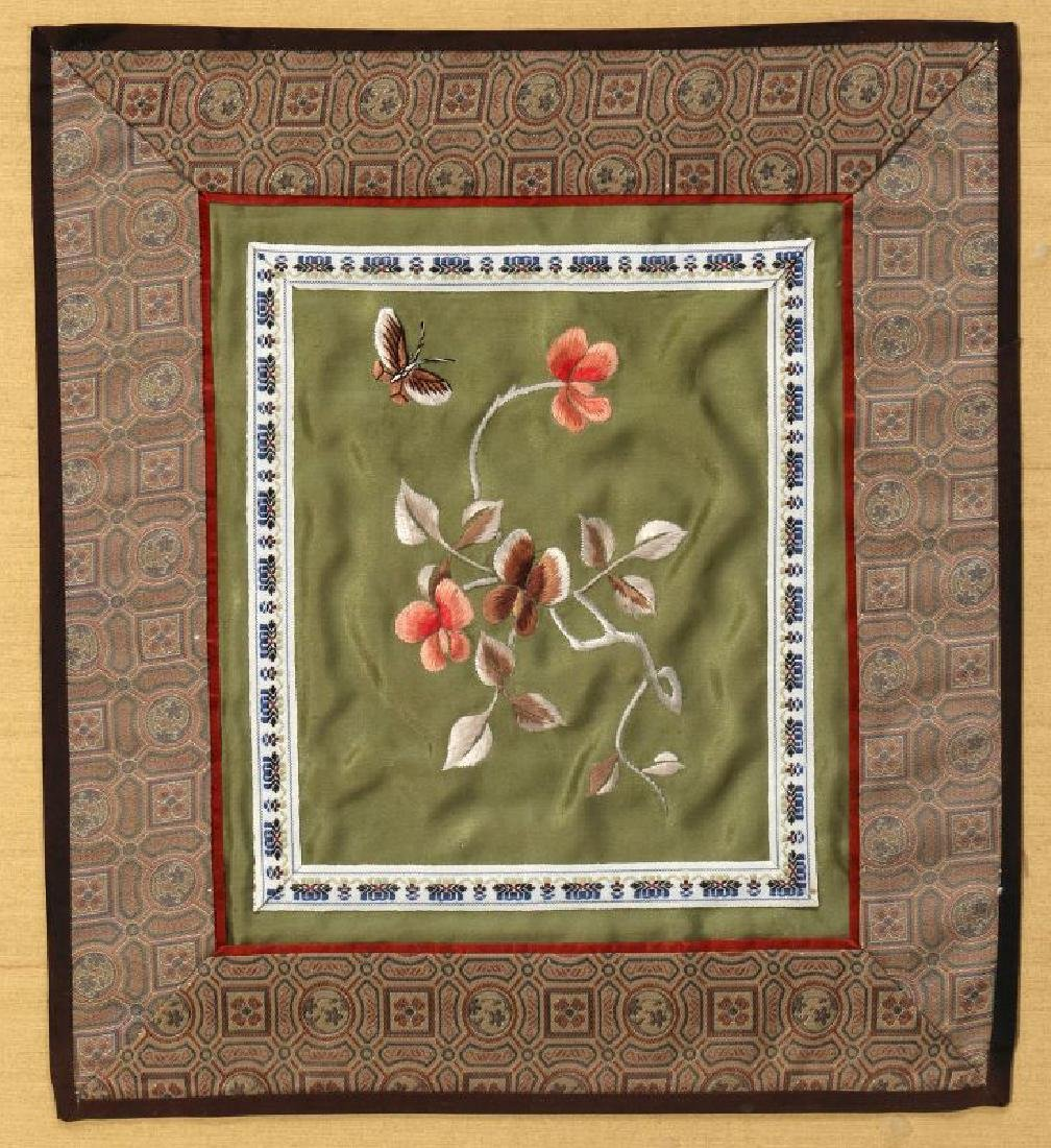 FOUR SILK EMBROIDERY PANELS - 9