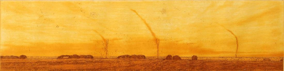 KEITH JACOBSHAGEN (B. 1941) SIGNED COLOR ETCHING
