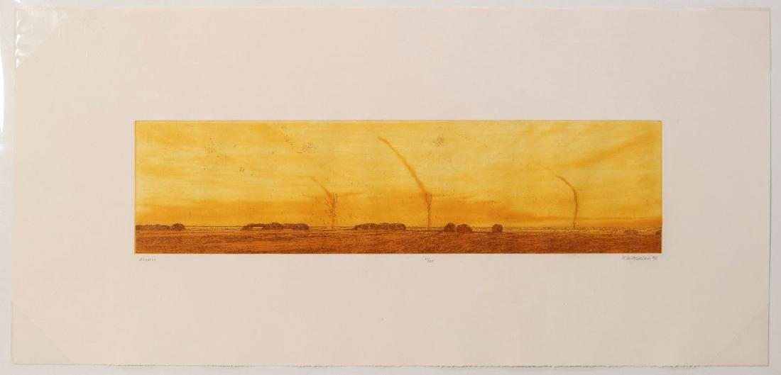 KEITH JACOBSHAGEN (B. 1941) SIGNED COLOR ETCHING - 2