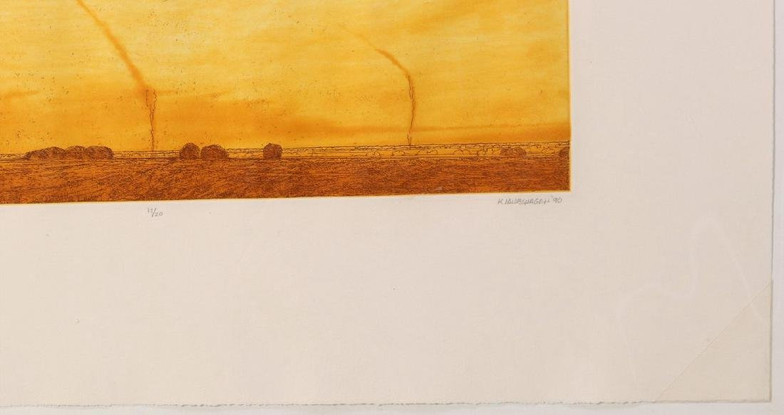 KEITH JACOBSHAGEN (B. 1941) SIGNED COLOR ETCHING - 5