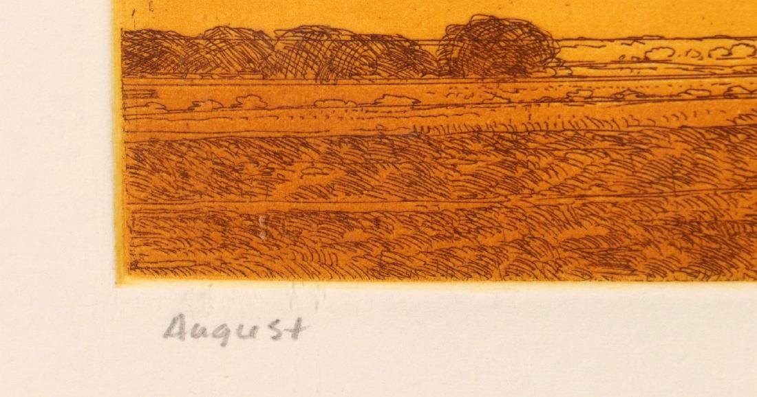 KEITH JACOBSHAGEN (B. 1941) SIGNED COLOR ETCHING - 9