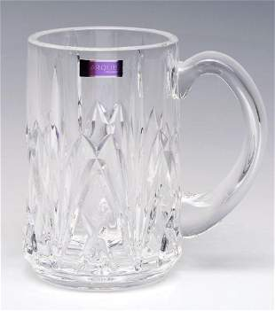 A WATERFORD MARQUIS BROOKSIDE BEER STEIN AND BOX