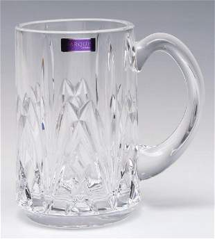 A WATERFORD MARQUIS BROOKSIDE BEER STEIN WITH BOX