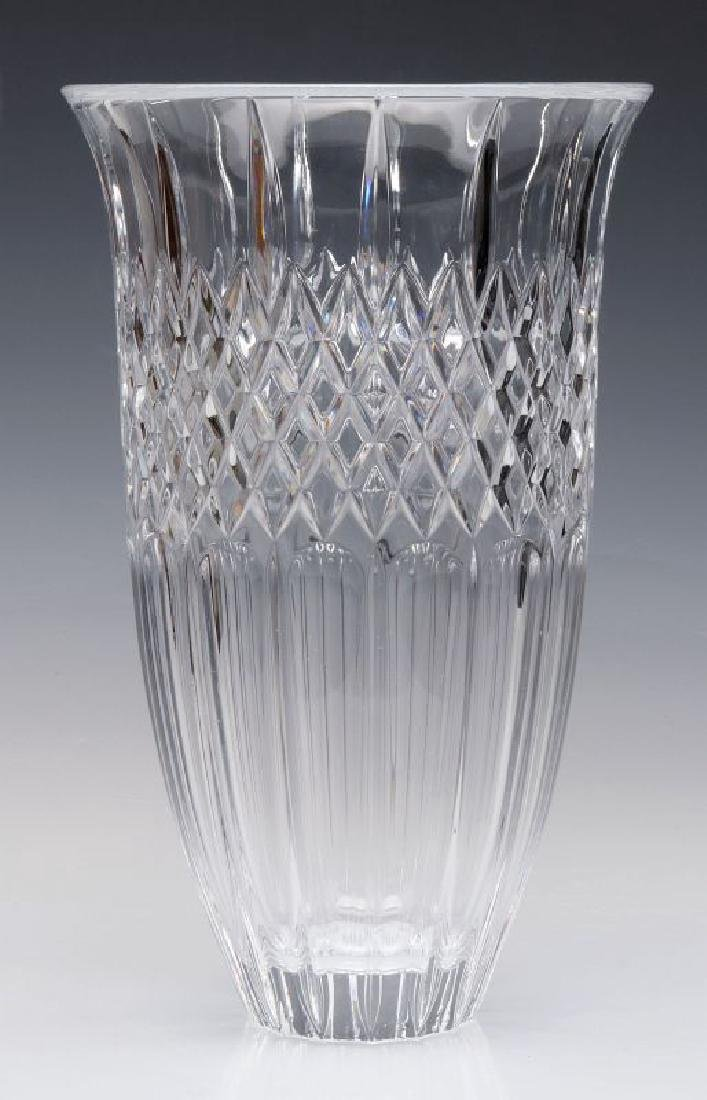 A WATERFORD MARQUIS SHELTON 12-INCH VASE WITH BOX