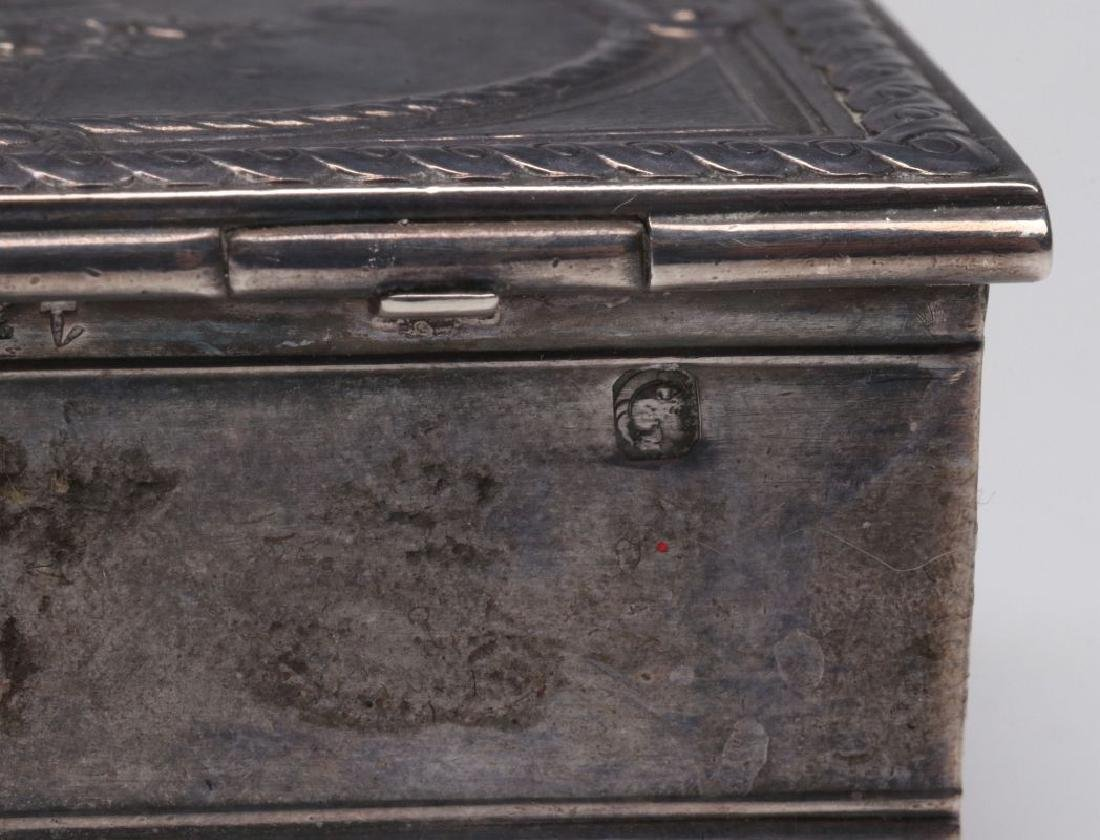 A 19THC. FRENCH ENGRAVED STERLING SILVER PATCH BOX - 9