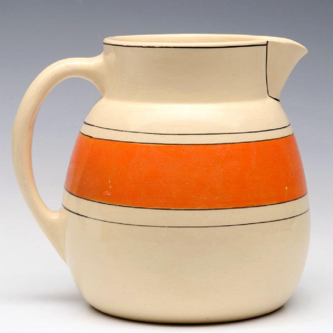 AN EARLY ROSEVILLE POTTERY PITCHER