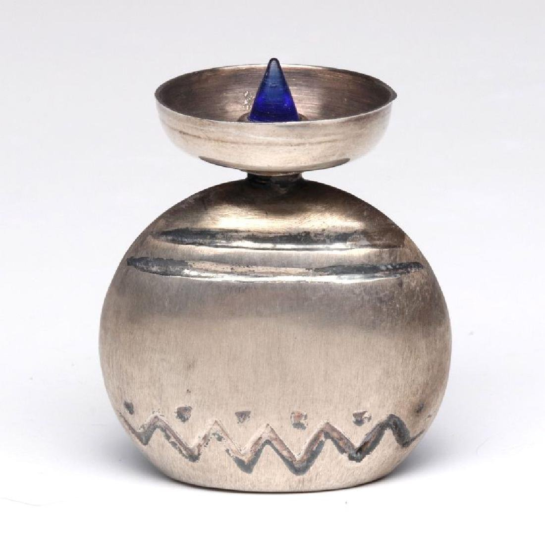 A VINTAGE MEXICAN STERLING SILVER PERFUME - 5