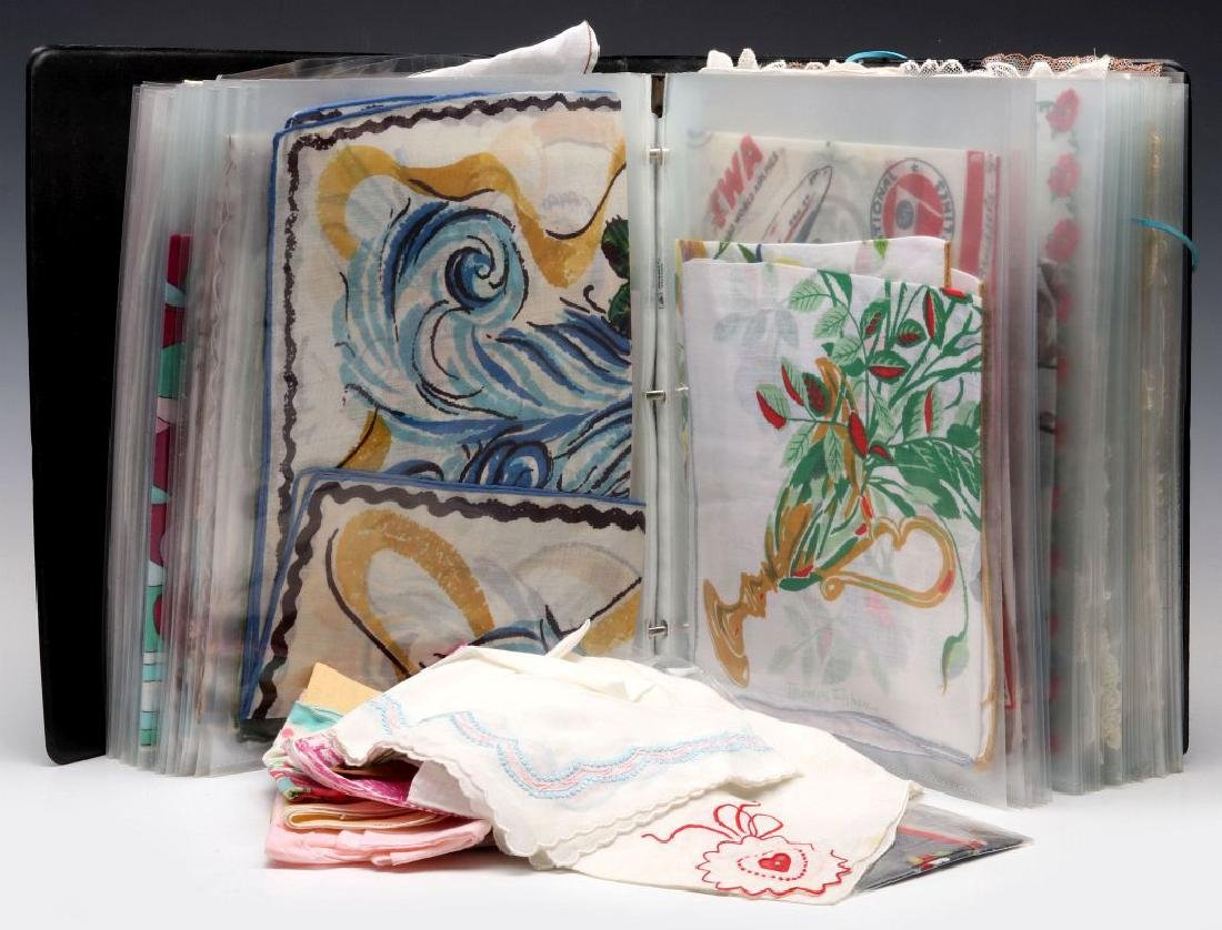 A COLLECTION OF ANTIQUE AND VINTAGE HANDKERCHIEFS - 2