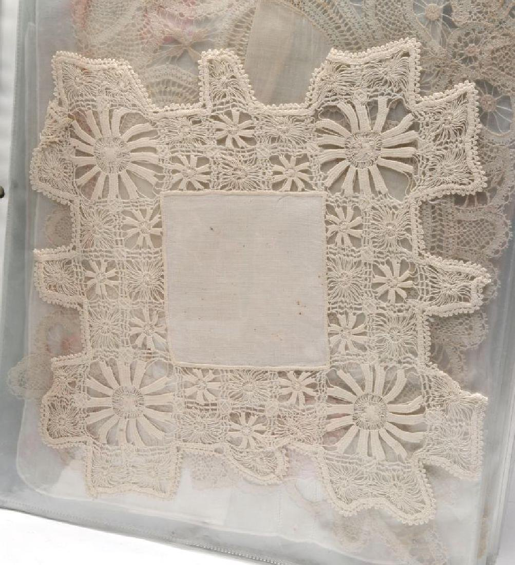 A COLLECTION OF ANTIQUE AND VINTAGE HANDKERCHIEFS - 3
