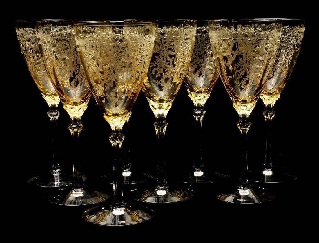 FOSTORIA 'JUNE' GLASSWARE IN TOPAZ COLOR - 3