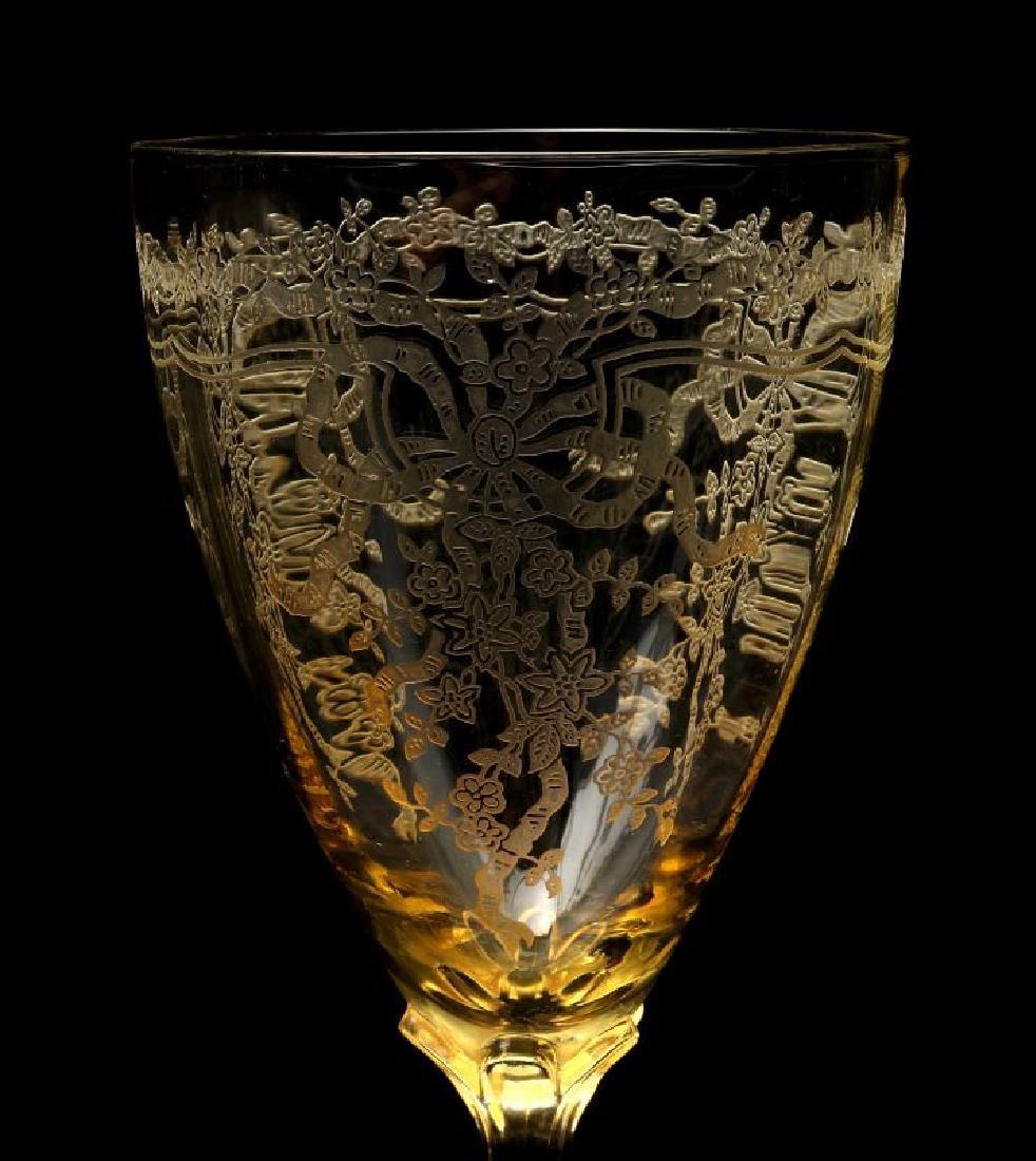 FOSTORIA 'JUNE' GLASSWARE IN TOPAZ COLOR - 4