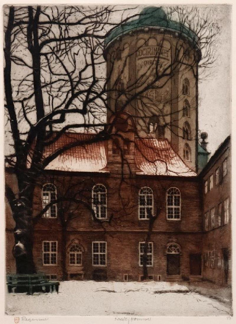 NICOLAI HAMMER (1887-1970) PENCIL SIGNED ETCHING