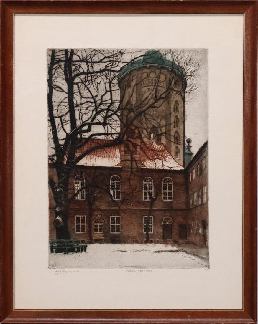 NICOLAI HAMMER (1887-1970) PENCIL SIGNED ETCHING - 2
