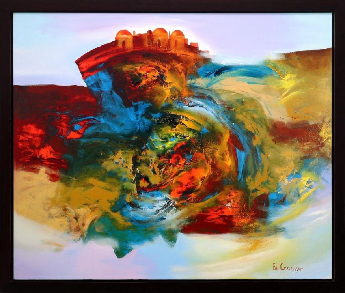 EDUARD GROSSMAN (BORN 1946) OIL ON CANVAS
