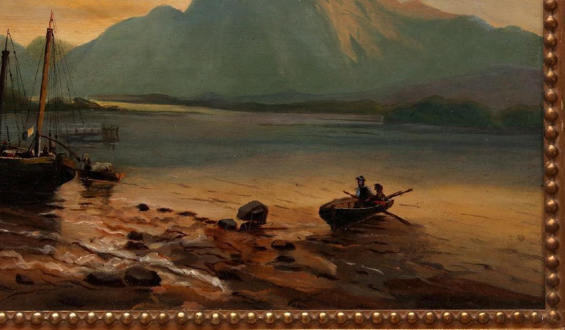 A 19TH CENTURY OIL ON CANVAS EUROPEAN LANDSCAPE - 5