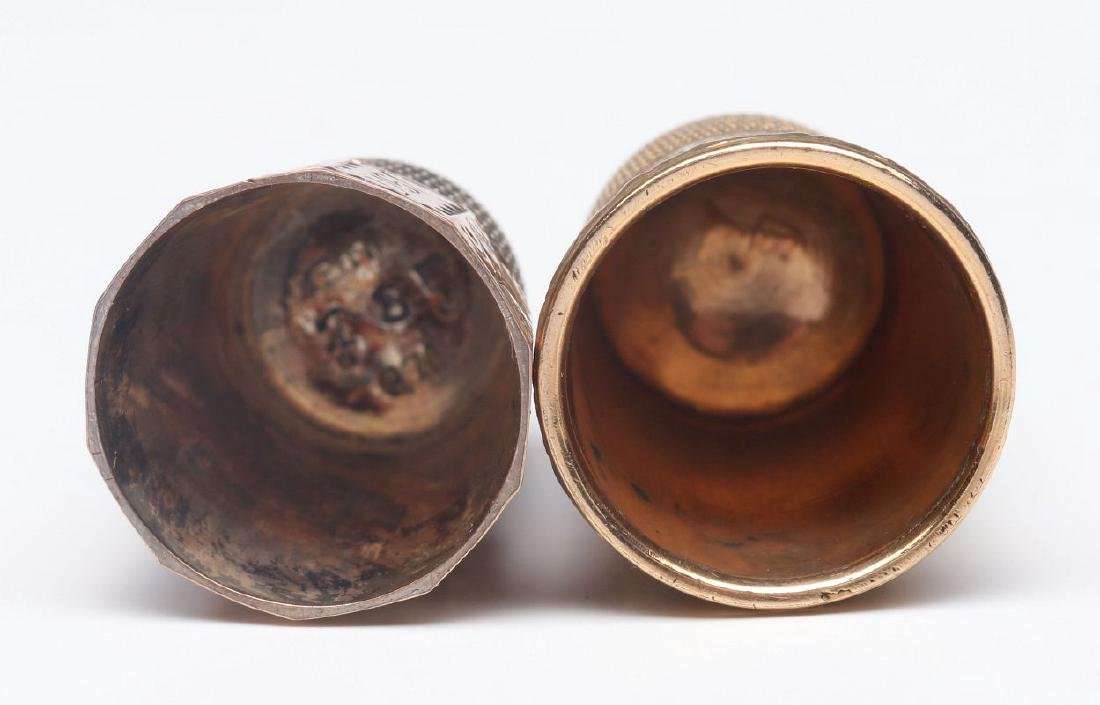 STERLING SILVER AND GOLD FILLED ANTIQUE THIMBLES - 5