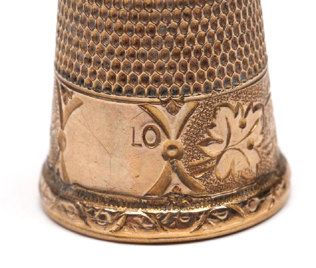 STERLING SILVER AND GOLD FILLED ANTIQUE THIMBLES - 7