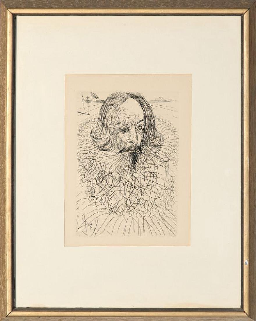 AFTER SALVADOR DALI (1904-1989) ETCHING, CERVANTES - 2