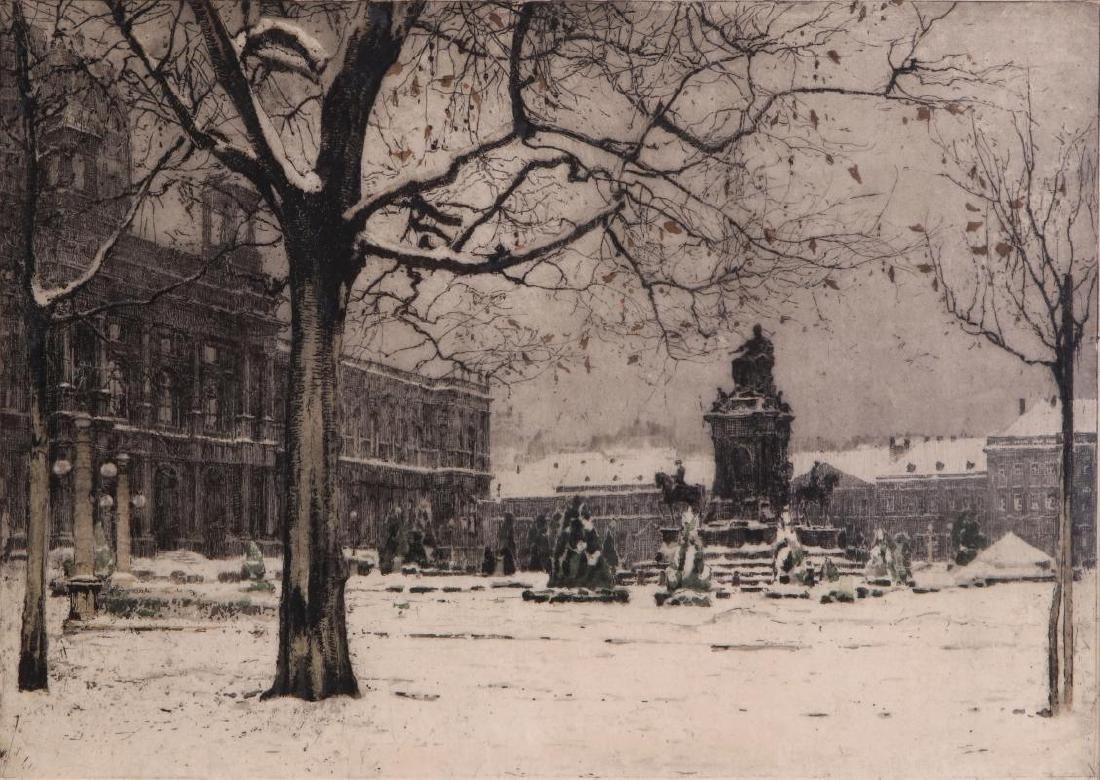 ATTRIBUTED LUIGI KASIMIR (1881 - 1962) ETCHING