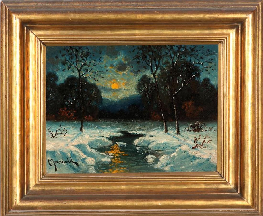 CARL HENRIK JONNEVOLD (1856-1955) OIL ON BOARD - 2
