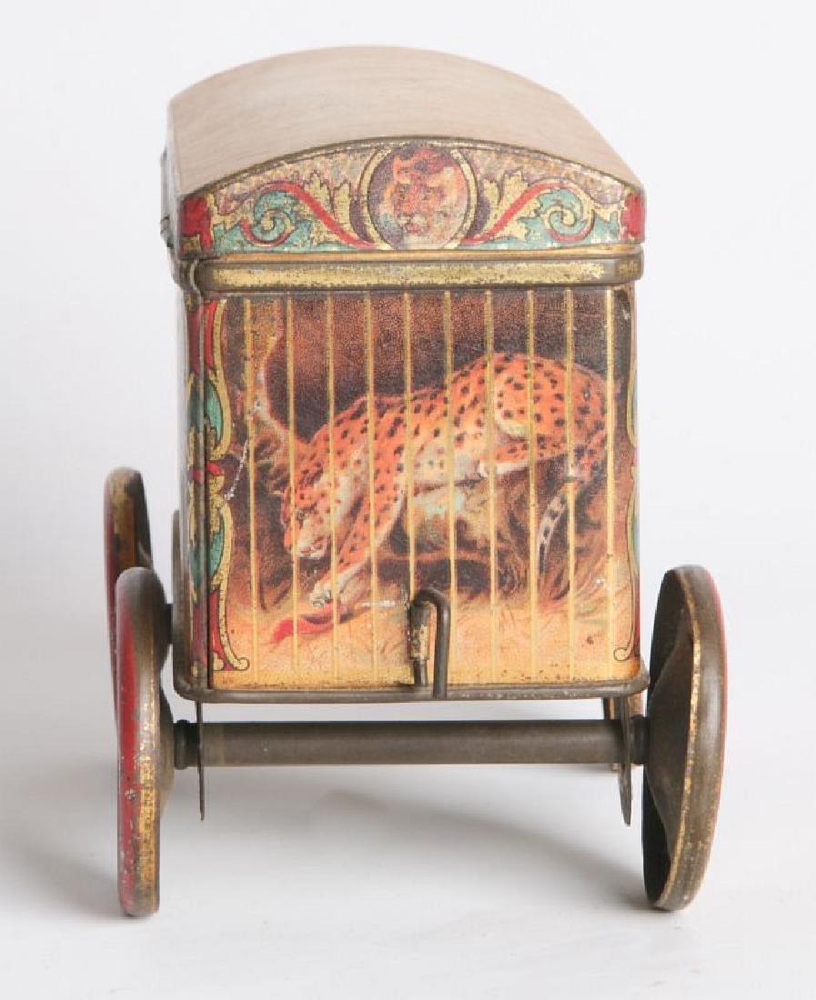 A TIN LITHO CIRCUS CAR BISCUIT TIN - 4